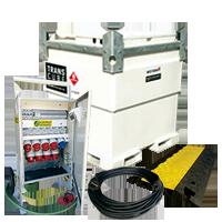 Électricité, réservoir diesel, boîtier de prise, extension électrique